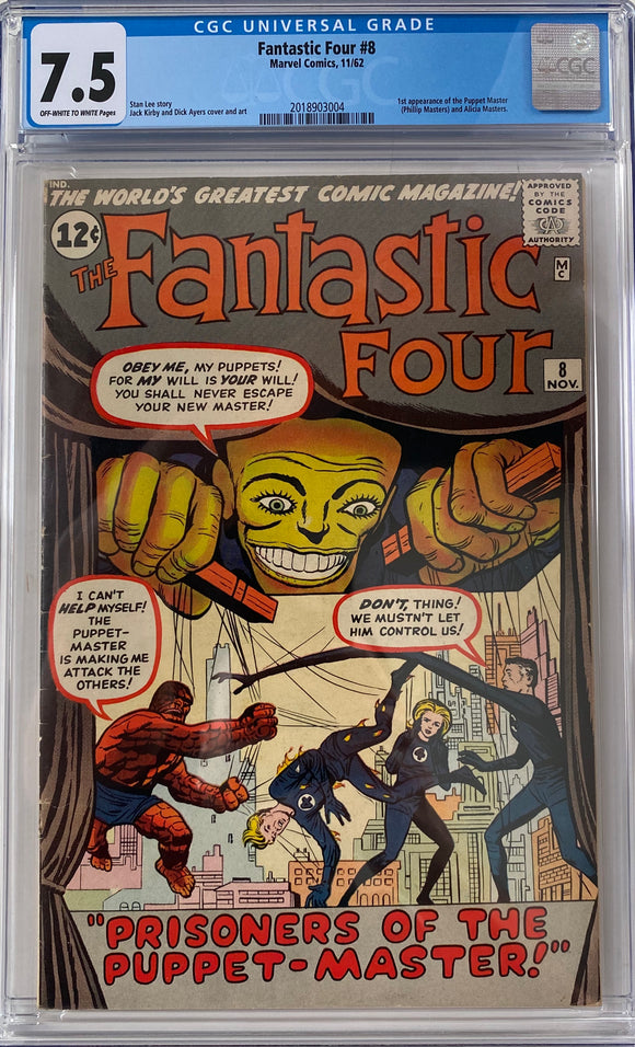 Fantastic Four #8 CGC 7.5 Off-White to White Pages