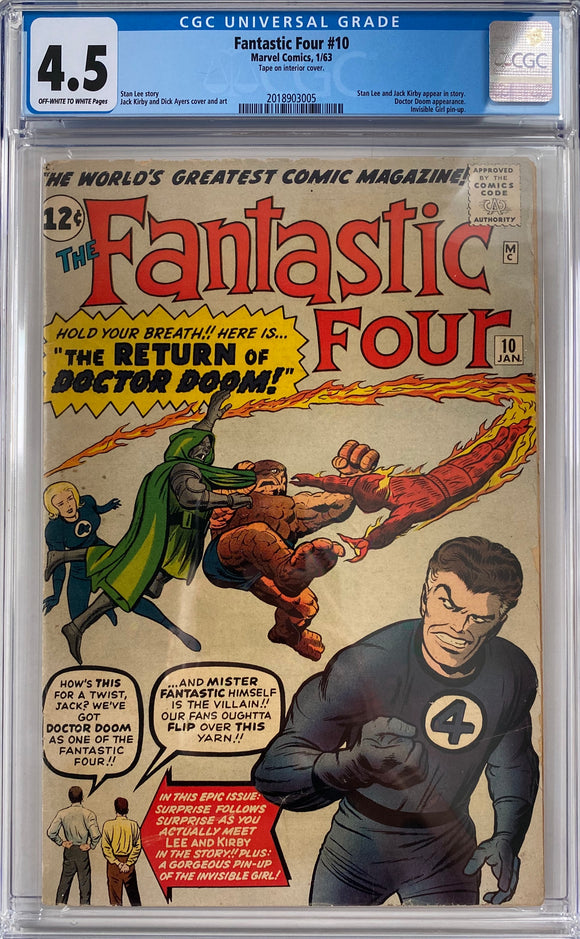 Fantastic Four #10 CGC 4.5 Off-White to White Pages
