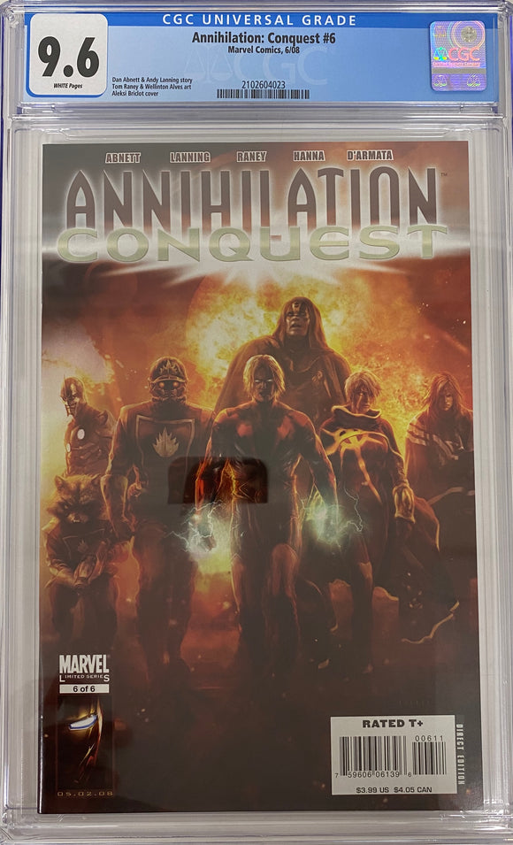 Annihilation: Conquest #1 CGC 9.6 White Pages