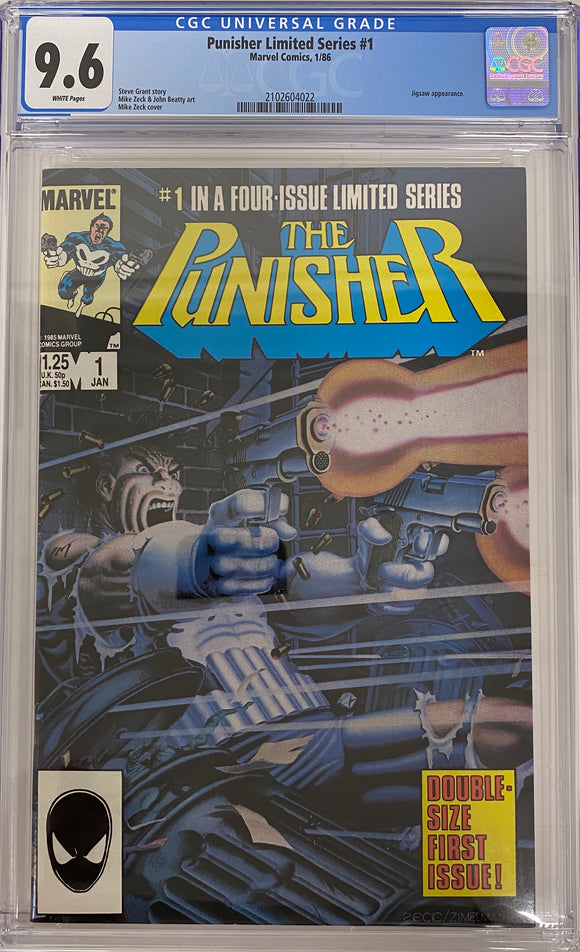 Punisher Limited Series #1 CGC 9.6 White Pages