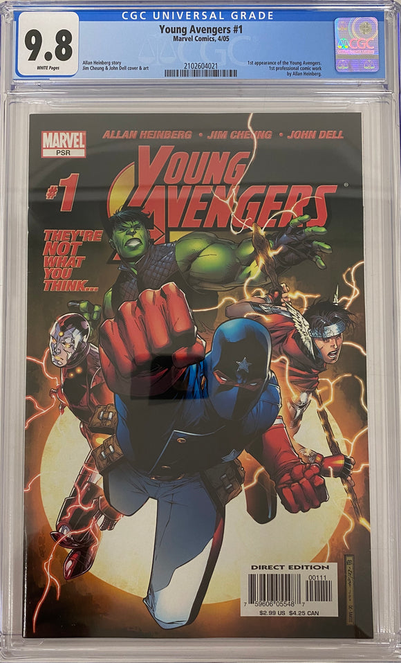 Young Avengers #1 CGC 9.8 White Pages