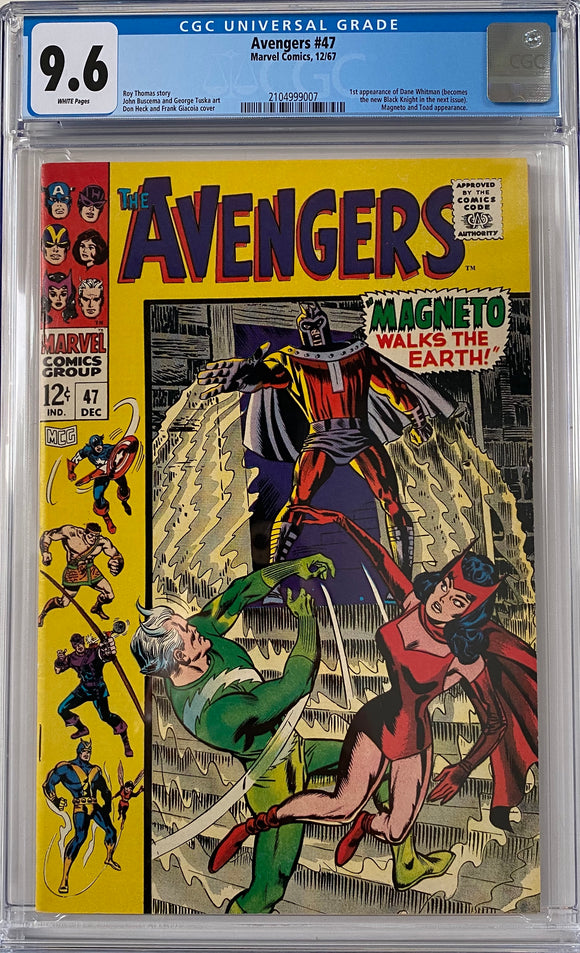 Avengers #47 CGC 9.6 White Pages