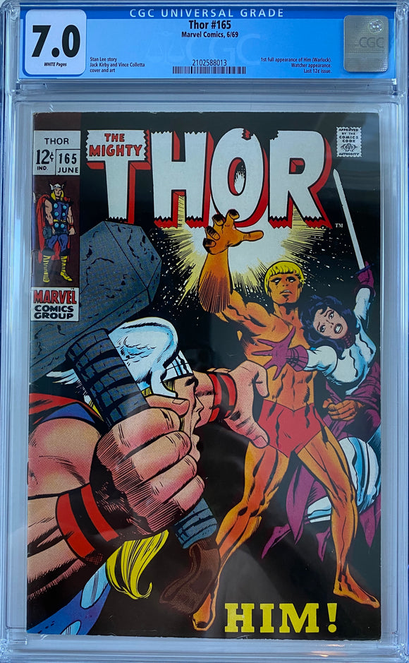 Thor #165 CGC 7.0 White Pages