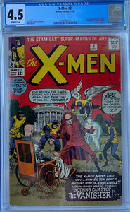 X-Men #2 CGC 4.5 Off-White Pages