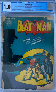 Batman #16 CGC 1.0 Cream to Off-White Pages