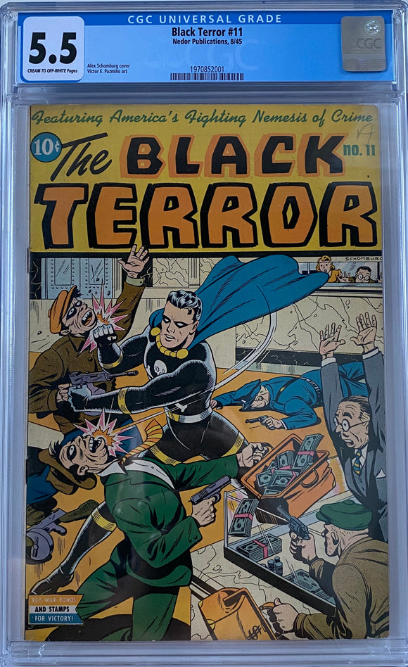 Black Terror #11 CGC 5.5 Cream to Off-White Pages