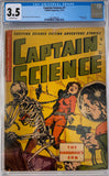 Captain Science #7 CGC 3.5 Off-White Pages