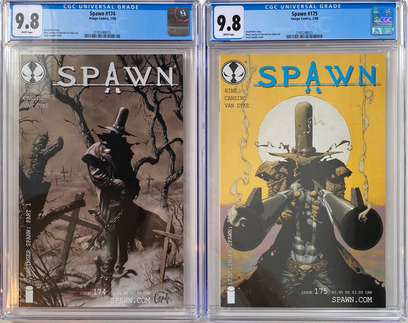 Spawn #174 & #175 CGC 9.8 White Pages