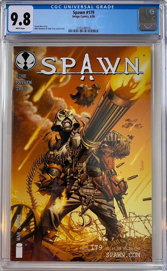 Spawn #179 CGC 9.8 White Pages