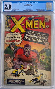 X-Men #4 CGC 2.0 Cream to Off-White Pages