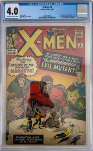X-Men #4 CGC 4.0 Cream to Off-White Pages