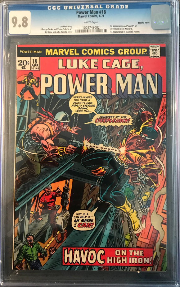 Power Man #18 CGC White Pages