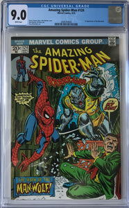 Amazing Spider-Man #124 CGC 9.0 White Pages