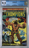 Champions #1 CGC 9.2 White Pages