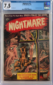 Nightmare #12 CGC 7.5 Off-White Pages