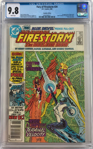 Fury of Firestorm #24 CGC 9.8 White Pages ~CANADIAN VARIANT~