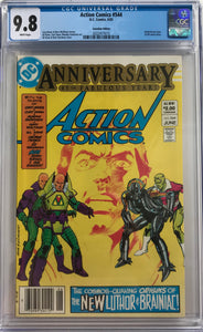 Action Comics #544 CGC 9.8 White Pages ~CANADIAN VARIANT~