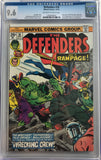 Defenders #18 CGC 9.6 White Pages