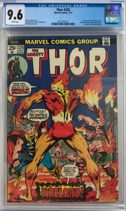 Thor #225 CGC 9.6 White Pages