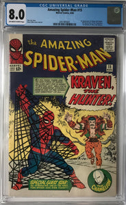 Amazing Spider-Man #15 CGC 8.0 Off-White to White Pages