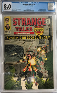 Strange Tales #138 CGC 8.0 Off-White to White Pages
