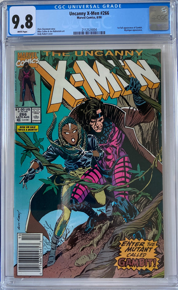 Uncanny X-Men #266 CGC 9.8 White Pages ~NEWSSTAND VARIANT~