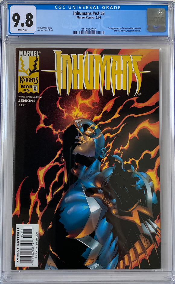 Inhumans #v2 #5 CGC 9.8 White Pages