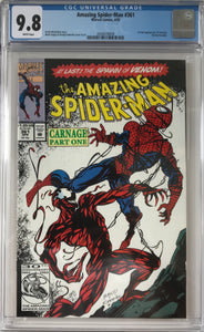 Amazing Spider-Man #361 CGC 9.8 White Pages