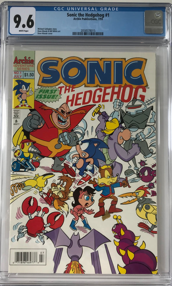Sonic the Hedgehog #1 CGC 9.6 White Pages ~CANADIAN VARIANT~