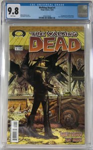 Walking Dead #1 CGC 9.8 White Pages