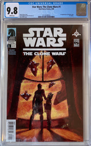 Star Wars: The Clone Wars #1 CGC 9.8 White Pages