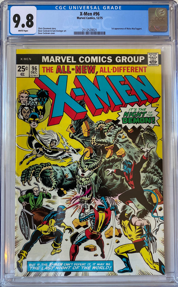 X-Men #96 CGC 9.8 White Pages