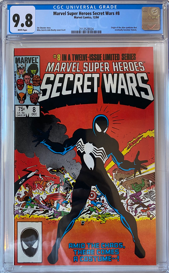 Marvel Super Heroes Secret Wars #8 CGC 9.8 White Pages
