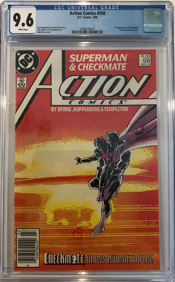 Action Comics #598 CGC 9.6 White Pages ~CANADIAN VARIANT~
