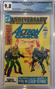 Action Comics #544 CGC 9.8 White Pages