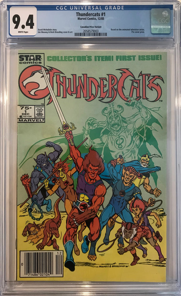 Thunder Cats #1 CGC 9.4 White Pages ~CANADIAN VARIANT~