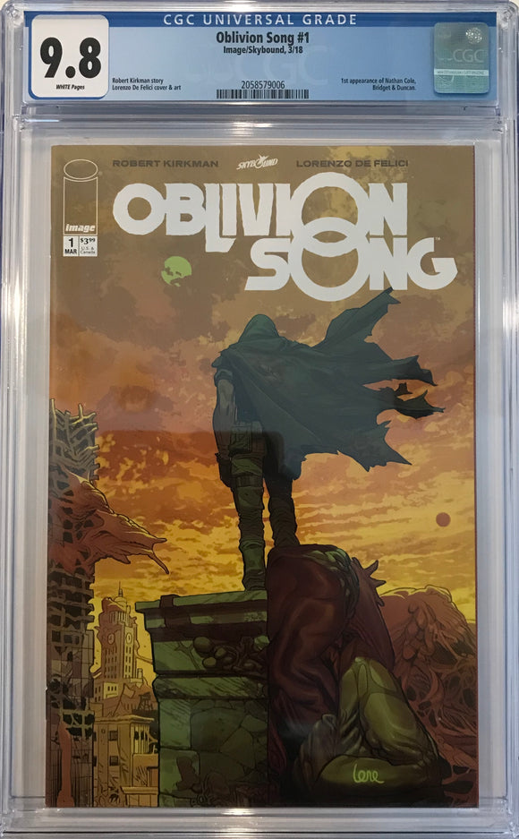 Oblivion Song #1 CGC 9.8 White Pages