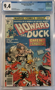 Howard the Duck #13 CGC 9.4 White Pages