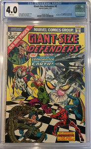 Giant-Size Defenders #3 CGC 4.0  White Pages