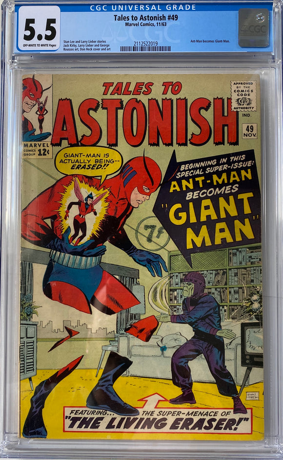 Tales to Astonish #49 CGC 5.5 Off-White to White Pages