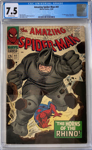 Amazing Spider-Man #41 CGC 7.5 Off-White Pages