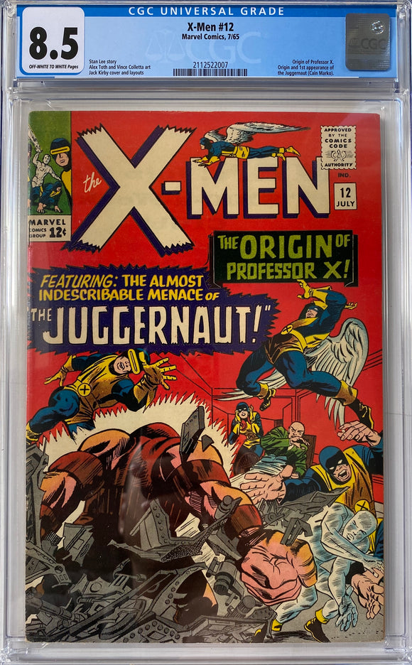 X-Men #12 CGC 8.5 Off-White to White Pages