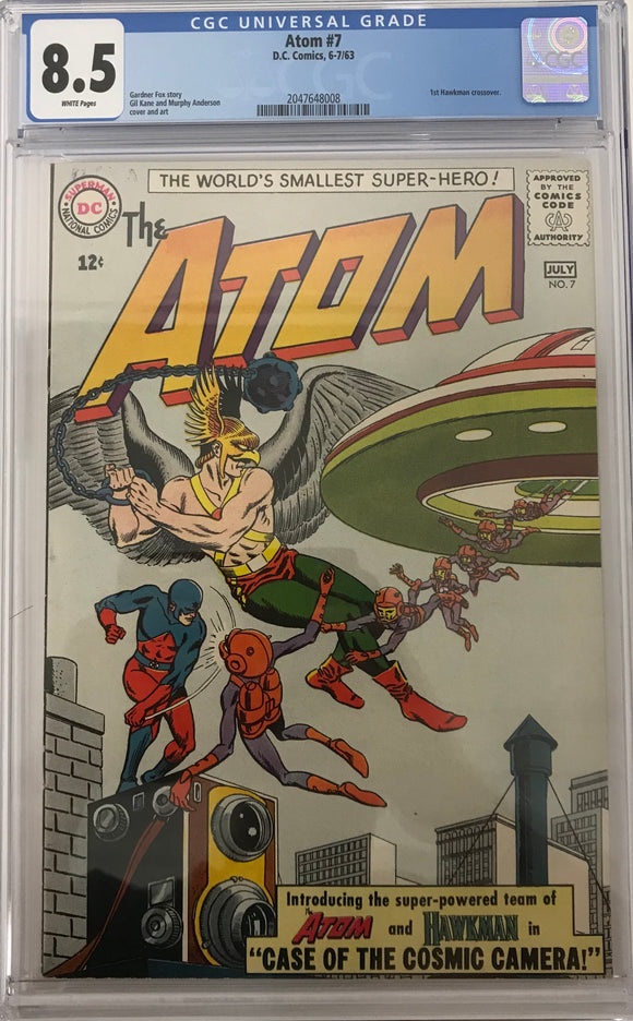 Atom #7 CGC 8.5 White Pages