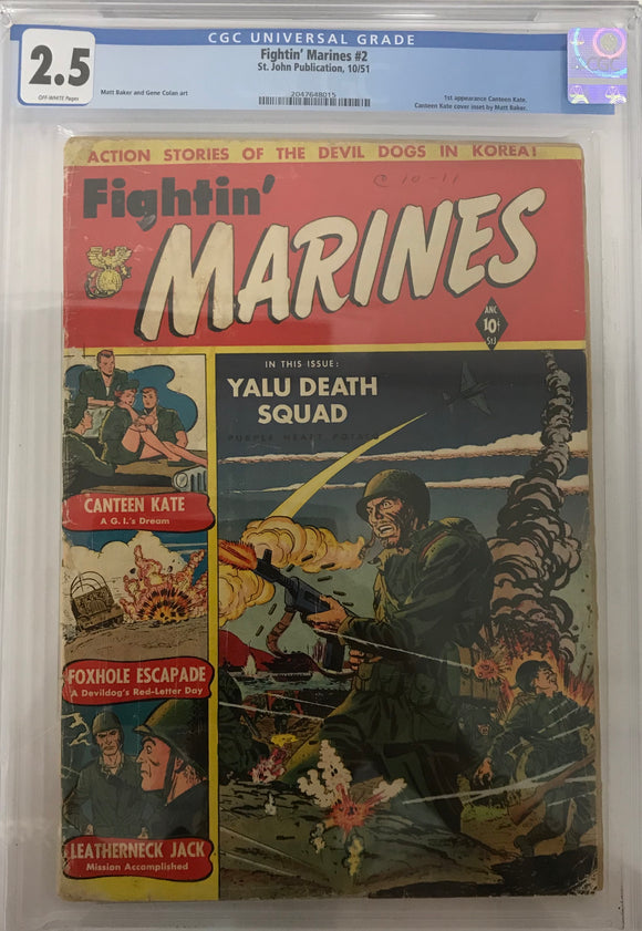 Fightin' Marines #2 CGC 2.5 Off-White Pages
