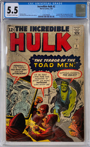 Incredible Hulk #2 CGC 5.5 Off-White to White Pages