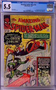 Amazing Spider-Man #14 CGC 5.5 Off-White to White Pages