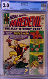 Daredevil #1 CGC 2.0 Off-White Pages