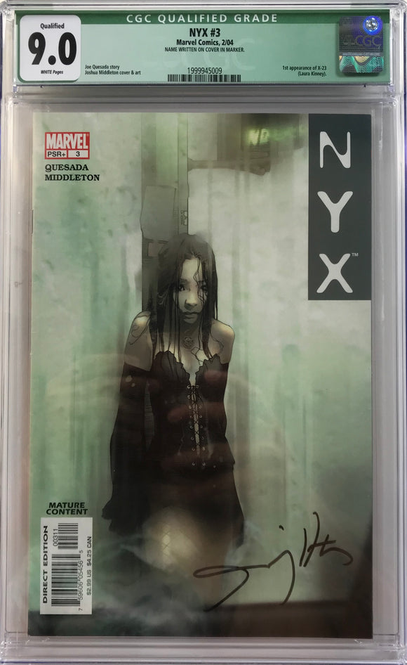 NYX #3 CGC 9.0 White Pages
