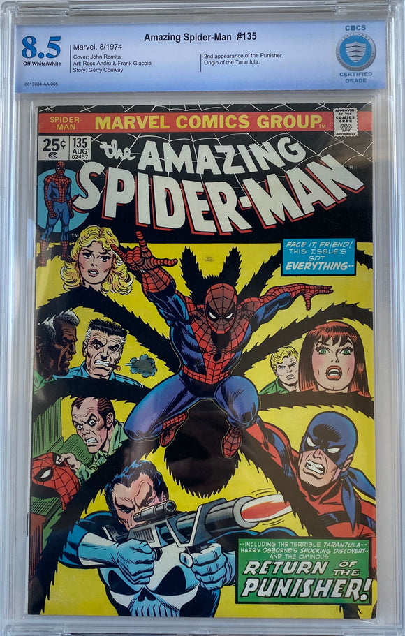 Amazing Spider-Man #135 CBCS 8.5 Off-White to White Pages