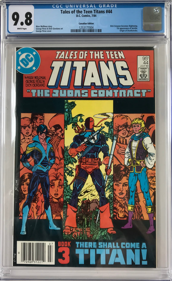 Tales of the Teen Titans #44 CGC 9.8 White Pages ~CANADIAN VARIANT~